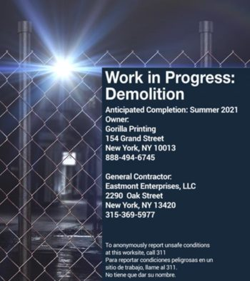 Construction Fence Sign 4