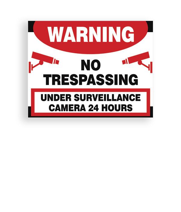 Sign Warning No Trespassing